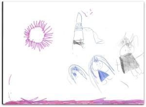 Laia Sofia. 4 años. Lo mejor del cole es jugar en el patio con sus amigos.