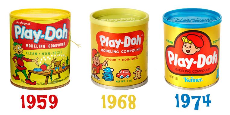 Evolución del bote amarillo de Play Doh